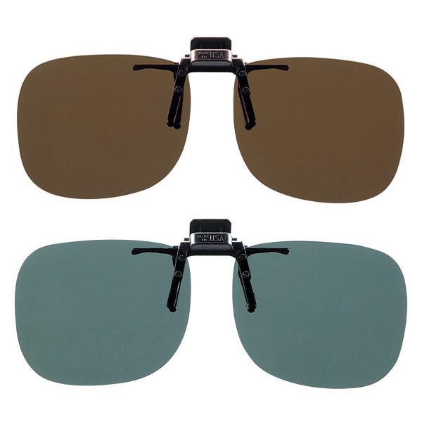 偏光サングラス クリップオン 釣り メガネ用 Mサイズ 日本製偏光レンズ