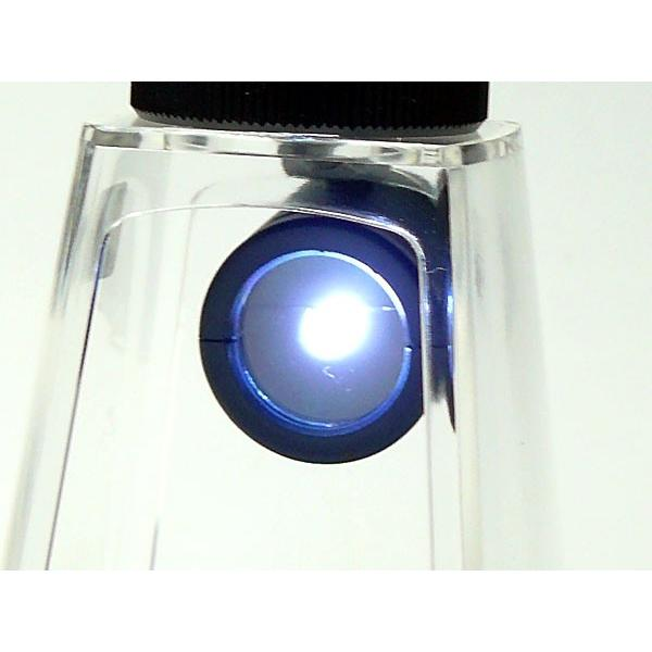 遠近 単眼鏡 美術館 ギャラリースコープ 専用 LEDライト付 マイクロスタンド F-101L 日本製 クリアー光学