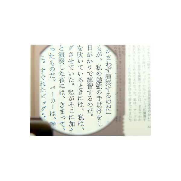 ルーペ 拡大鏡 おしゃれ 携帯 3倍 50x60mm L-456 日本製 クリアー光学