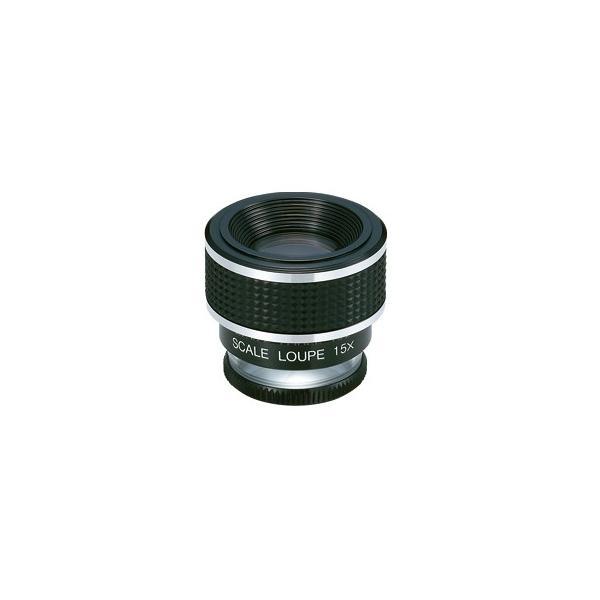 ルーペ 拡大鏡 高倍率 15倍 0.1mm 目盛 ガラス スケール P-1520 日本製 クリアー光学