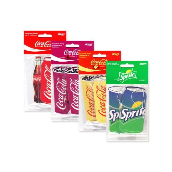 コカコーラ グッズ 芳香剤 車 エアフレッシュナー スプライト おしゃれ アメリカ アメリカン雑貨 バニラ チェリー