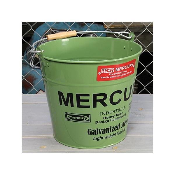 バケツ マーキュリー MERCURY カーキ [おしゃれ/ブリキ/アメリカ]_MC-C118KH-MCR