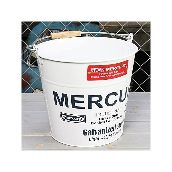 バケツ マーキュリー MERCURY ホワイト [おしゃれ/ブリキ/アメリカ]_MC-C118WH-MCR