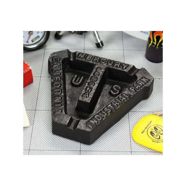 マーキュリー 灰皿 おしゃれ アメリカン アンティーク レトロ 鉄 鋳物 MERCURY アメリカン雑貨 アイアンアシュトレイ トライアングル ブラック_MC-MEIRASTB-MCR