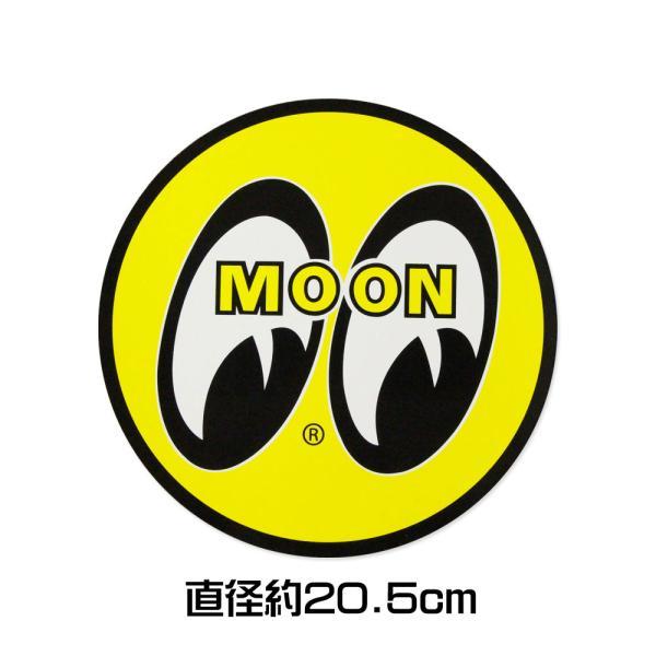 ムーンアイズ ステッカー 車 アメリカン おしゃれ バイク ヘルメット かっこいい ホットロッド MOONEYES アイボール 直径20.5cm メール便OK_SC-DM006-MON