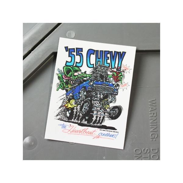 ラットフィンク ステッカー 車 アメリカン キャラクター おしゃれ バイク ヘルメット かっこいい RatFink シボレー 55CHEVY メール便OK_SC-RDUSA018-MON