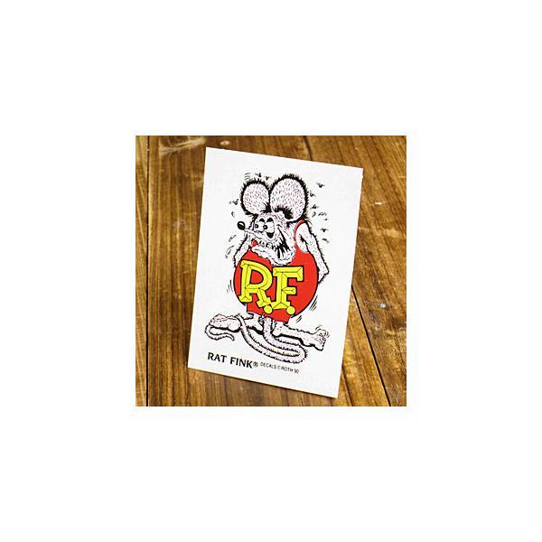ラットフィンク ステッカー 車 アメリカン キャラクター おしゃれ バイク ヘルメット かっこいい RatFink USA サイズS パープル メール便OK_SC-RDUSA022PU-MON