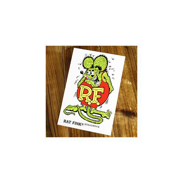 ラットフィンク ステッカー 車 アメリカン キャラクター おしゃれ バイク ヘルメット かっこいい RatFink USA サイズL グリーン メール便OK_SC-RDUSA021GR-MON