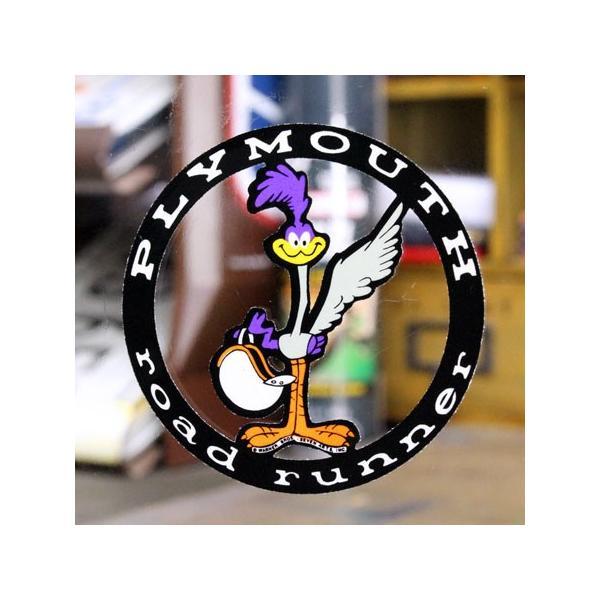 ロードランナー ステッカー ルーニー・テューンズ 車 アメリカン キャラクター おしゃれ バイク ヘルメット 転写 プリムス メール便OK_SC-DD0206-MON