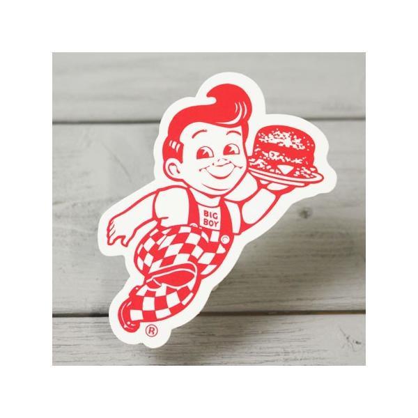 ビッグボーイ(Big Boy) ステッカー アメリカ キャラクター 車 バイク ヘルメット おしゃれ かっこいい レッド メール便OK_SC-010RD-HYS
