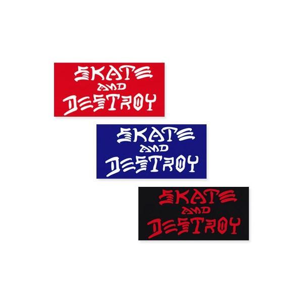 スラッシャー ステッカー ブランド かっこいい おしゃれ アウトドア アメリカン スケボー ストリート 車 バイク スーツケース THRASHER SKATE AND DESTROY