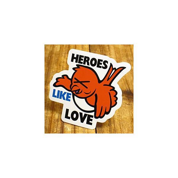ステッカー 車 アメリカン おしゃれ バイク ヘルメット かっこいい 動物 鳥 「英雄色を好む」 メール便OK_SC-PS162-SXW