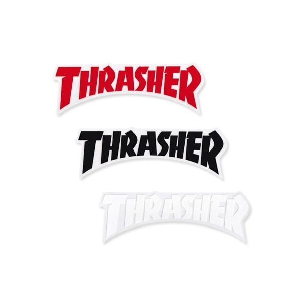 スラッシャー ステッカー ブランド かっこいい おしゃれ アウトドア アメリカン スケボー ストリート 車 バイク スーツケース THRASHER DIE CUT LOGO