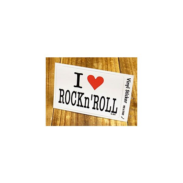 ステッカー 車 アメリカン アイラブ おしゃれ バイク ヘルメット かっこいい 愛してる I LOVE ROCK'n ROLL ロックンロール メール便OK_SC-IL001-GEN