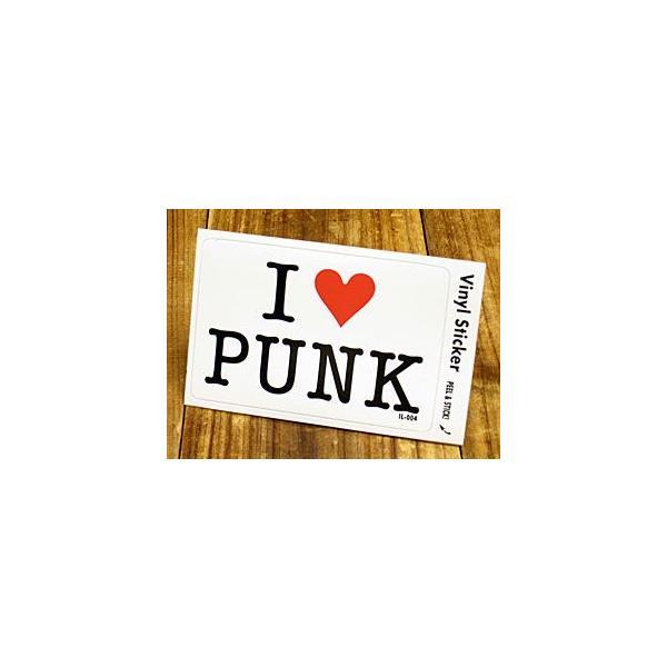 ステッカー 車 アメリカン アイラブ おしゃれ バイク ヘルメット かっこいい 愛してる I LOVE PUNK パンク メール便OK_SC-IL004-GEN