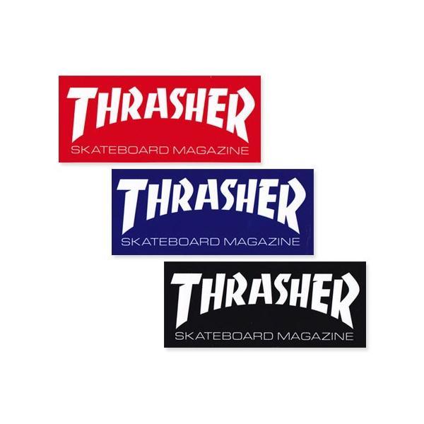 スラッシャー ステッカー ブランド かっこいい おしゃれ アウトドア アメリカン スケボー ストリート 車 バイク スーツケース THRASHER LOGO BIG