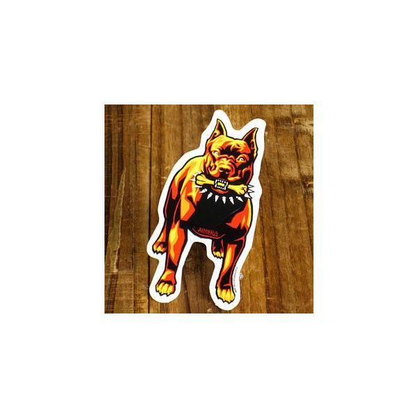 ステッカー 車 アメリカン おしゃれ バイク ヘルメット かっこいい 犬 動物 アルメラ ALMERA PIT BULL メール便OK_SC-972-GEN