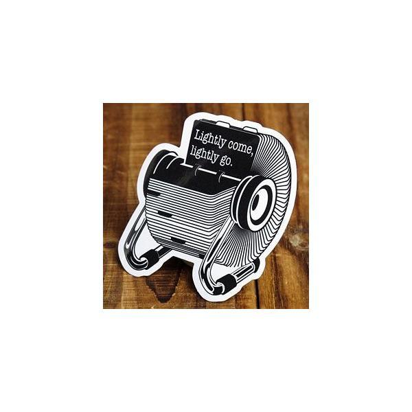 ステッカー 車 アメリカン おしゃれ バイク ヘルメット かっこいい 「簡単に手に入るものはすぐに出ていく」 メール便OK_SC-PS082-SXW
