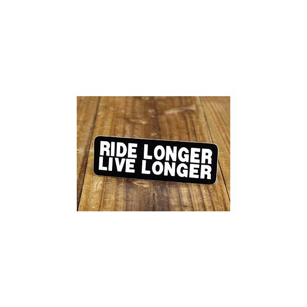 ステッカー ヘルメット 車 アメリカン おしゃれ バイク かっこいい RIDE LONGER LIVE LONGER 長く乗り、長く生きよ メール便OK_SC-059-GEN|planfirst