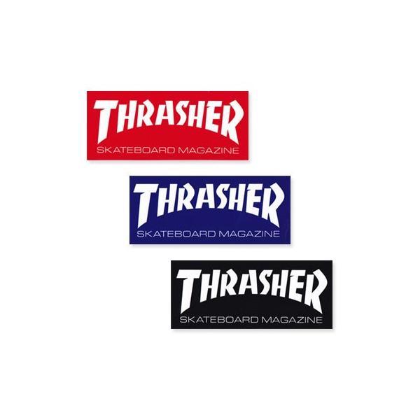 スラッシャー ステッカー ブランド かっこいい おしゃれ アウトドア アメリカン スケボー スケートボード ストリート 車 バイク スーツケース THRASHER LOGO