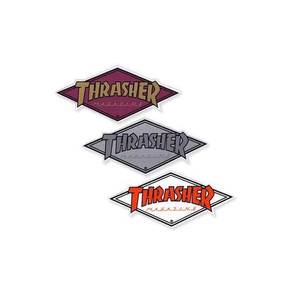 スラッシャー ステッカー ブランド かっこいい おしゃれ アウトドア アメリカン スケボー ストリート 車 バイク スーツケース THRASHER DIAMOND