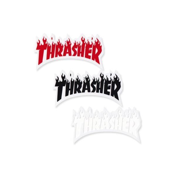 スラッシャー ステッカー ブランド かっこいい おしゃれ アウトドア アメリカン スケボー スケートボード ストリート 車 バイク スーツケース THRASHER FLAME