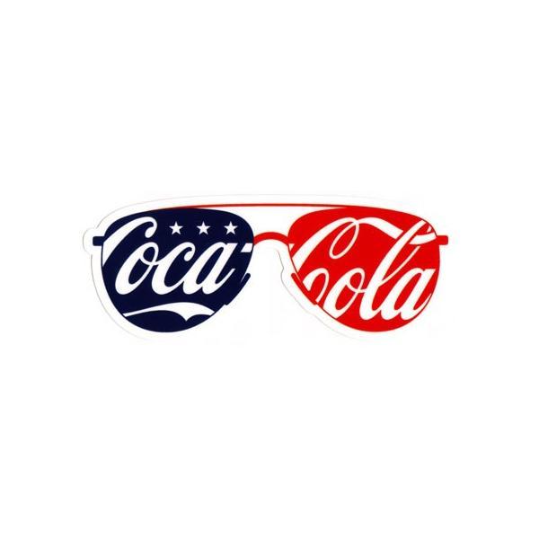 コカコーラ ステッカー グッズ アメリカン 車 おしゃれ バイク ヘルメット かっこいい カーステッカー アメリカン雑貨 サングラス メール便OK_SC-CCBA51-LFS
