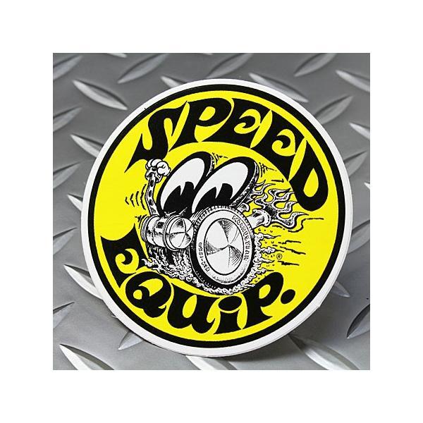 ムーンアイズ ステッカー 車 アメリカン おしゃれ バイク ヘルメット かっこいい ホットロッド MOONEYES スピードイクイップド メール便OK_SC-DM206-MON