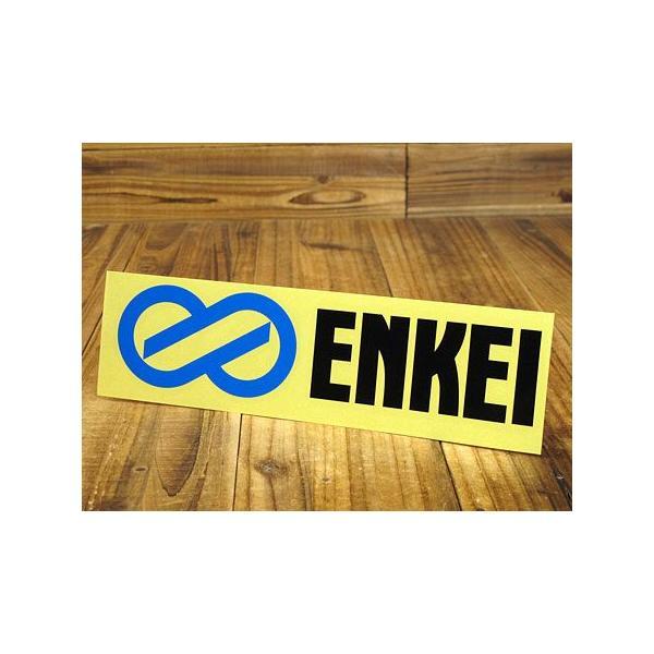 ステッカー 車 エンケイ アメリカン おしゃれ バイク ヘルメット かっこいい ホイール ENKEI 転写式 ブラック メール便OK_SC-ES1-TMS