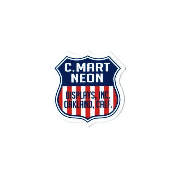 ステッカー アメリカン おしゃれ かっこいい 車 アウトドア スーツケース バイク ヘルメット レトロ GENUINE POWERFUL STICKER サイズS C.MART NEON