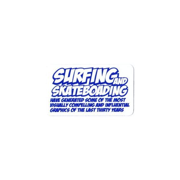 ステッカー アメリカン おしゃれ かっこいい 車 アウトドア スーツケース バイク ヘルメット レトロ GENUINE POWERFUL STICKER サイズS SURFING