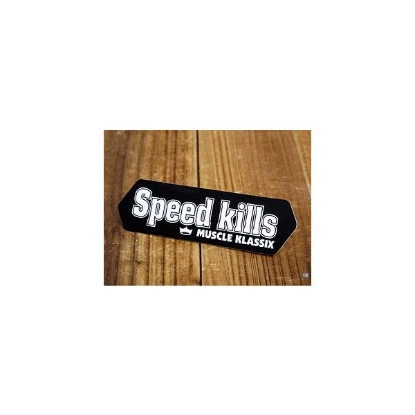 ステッカー 車 アメリカン おしゃれ バイク ヘルメット かっこいい ホットロッド マッスルクラシックス Speed Kills メール便OK_SC-MK005-SXW