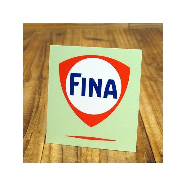 ステッカー 車 アメリカン おしゃれ バイク ヘルメット かっこいい オイル FINA フィナ サイズL メール便OK_SC-R738-TMS