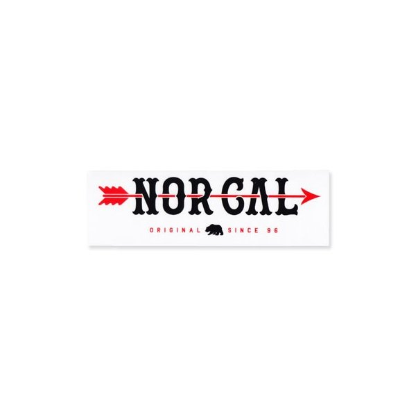 ステッカー ブランド スケボー スケートボード ストリート系 アメリカン 車 バイク アウトドア スーツケース おしゃれ かっこいい ノーカル NOR CAL アローロゴ