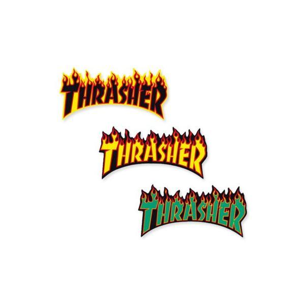 スラッシャー ステッカー ブランド かっこいい おしゃれ アウトドア アメリカン スケボー ストリート 車 バイク スーツケース THRASHER FLAME BIG