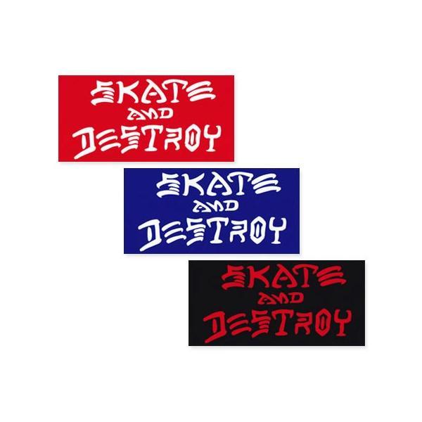 スラッシャー ステッカー ブランド かっこいい おしゃれ アウトドア アメリカン スケボー ストリート 車 バイク スーツケース THRASHER SKATE AND DESTROY BIG