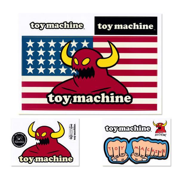 トイマシーン ステッカー ブランド スケボー スケートボード アメリカン 車 アウトドア スーツケース おしゃれ かっこいい Toy Machine B5ダイカットステッカー