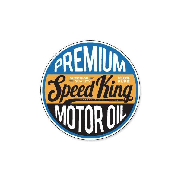 ステッカー アメリカン おしゃれ 車 バイク かっこいい オイル カーステッカー 世田谷ベース Vintage Motoroil Signs Speed King