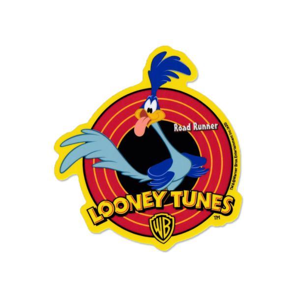 ロードランナー ステッカー ルーニー・テューンズ 車 アメリカン キャラクター おしゃれ かっこいい かわいい バイク ヘルメット 鳥 アメ車 イエロー