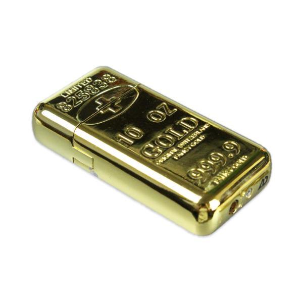 インゴットターボライター ゴールド ライター 金塊 おもしろライター 面白い 喫煙具 アメリカン雑貨