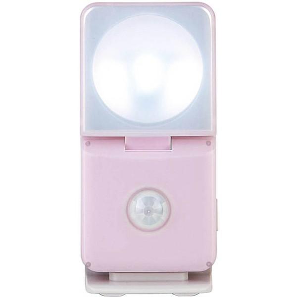 ムサシ RITEX ライテックス GS-100P 「乾電池式・屋内用」 インテリアLEDセンサーライト smart ピンク