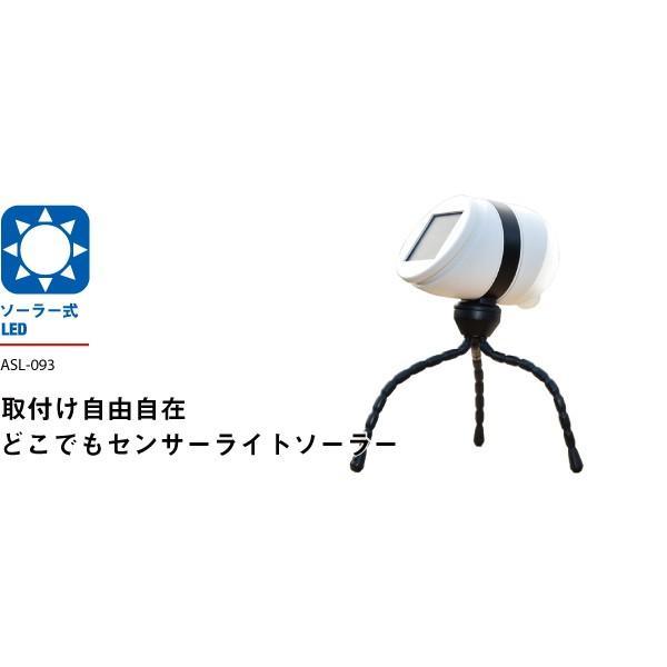 ムサシ RITEX ライテックス ASL-093 「ソーラー式・防雨型」 どこでもセンサーライトソーラー