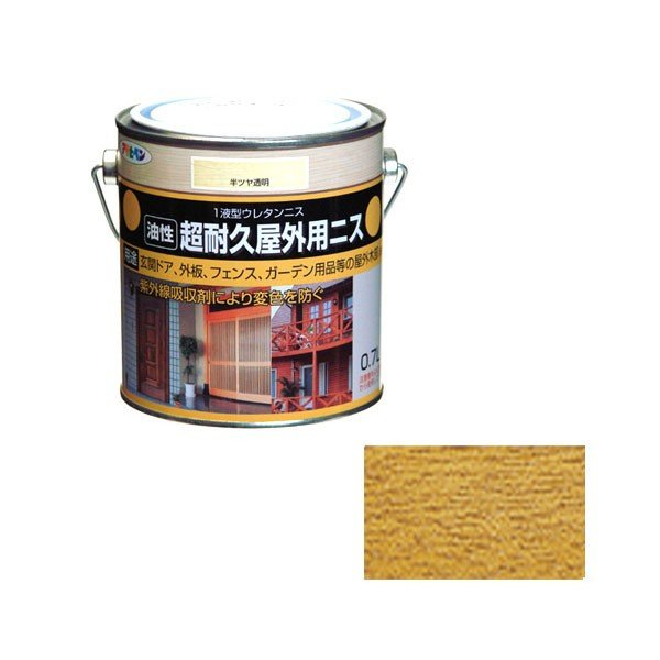 アサヒペン ASAHIPEN 油性超耐久屋外用ニス 半ツヤ透明 0.7L