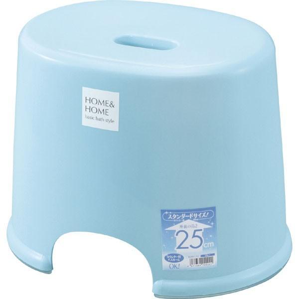 リス HOME&HOME GREL217 風呂椅子 座面高さ25cm パステルブルー