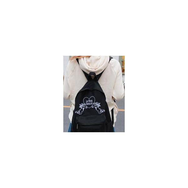 別商品と併せ買いで送料無料☆リュックハラジュクエンジェル系十字架羽柄刺繍天使ハートヘブンウィングかわいいリュックサックディパック天使&羽刺繍キャンバス|plasticanetshop|06