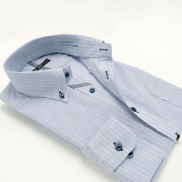 ワイシャツ メンズ 長袖 形態安定 形状記憶 標準型 BiMODE ボタンダウン P12BMB311|plateau-web|03