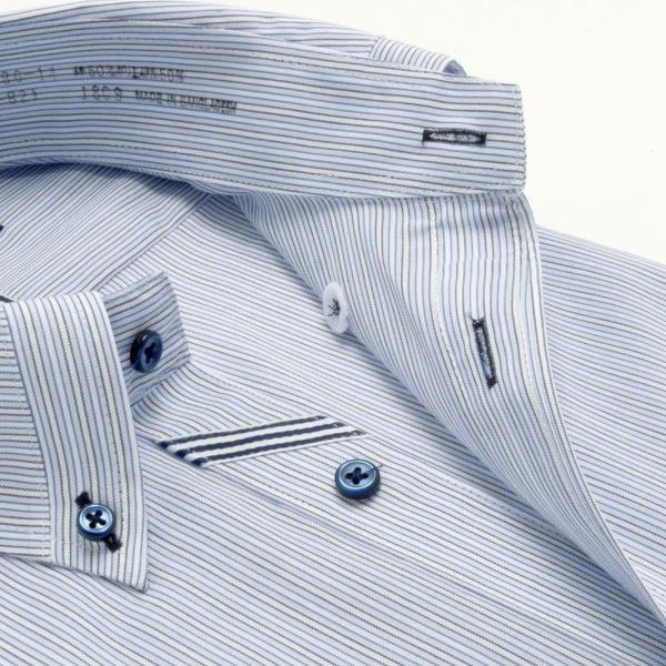 ワイシャツ メンズ 長袖 形態安定 形状記憶 標準型 BiMODE ボタンダウン P12BMB311|plateau-web|04