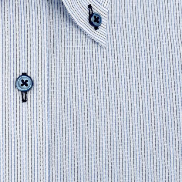 ワイシャツ メンズ 長袖 形態安定 形状記憶 標準型 BiMODE ボタンダウン P12BMB311|plateau-web|06