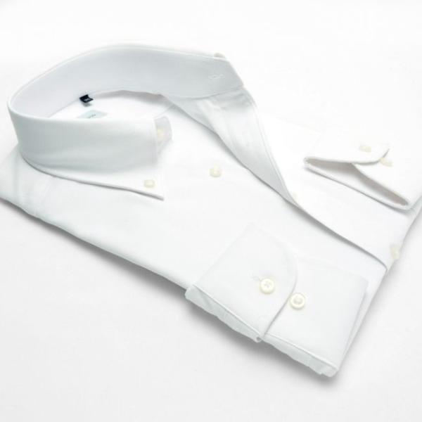 ワイシャツ メンズ 長袖 形態安定 形状記憶 標準型 HybridSensor ボタンダウン P12HBB237 plateau-web 03