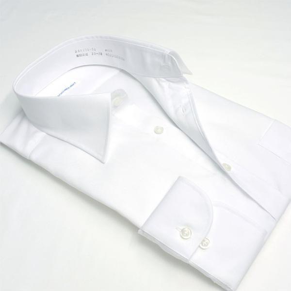 ワイシャツ メンズ 長袖 形態安定 形状記憶 綿100% 標準型 軽井沢シャツ ワイドスプレッド P12KZW211|plateau-web|03